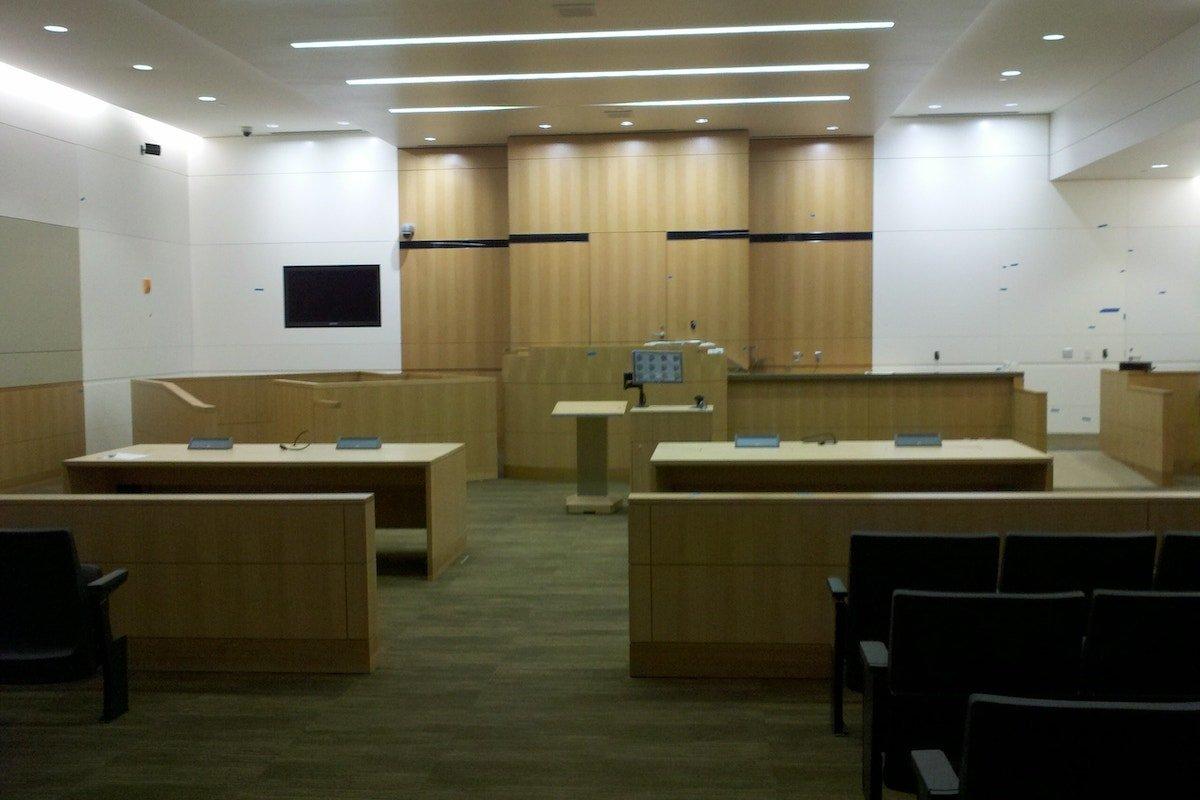 Arizona family court courtroom