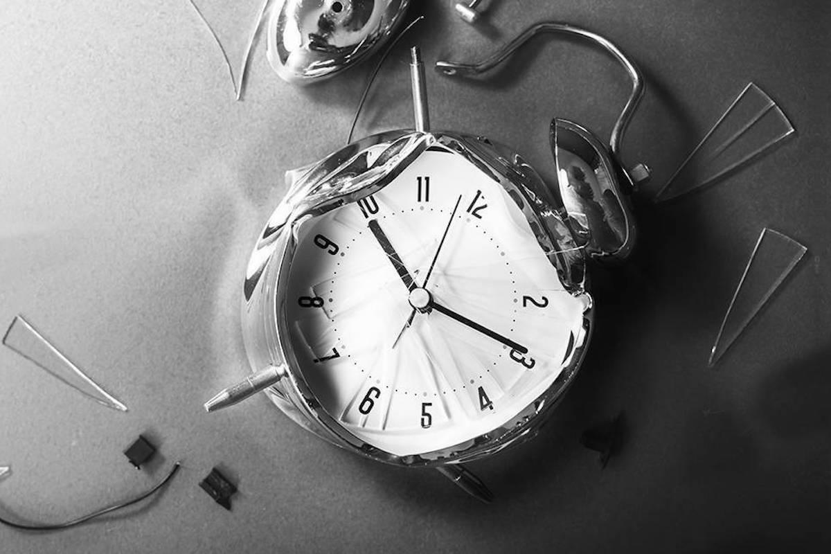 smashed clock
