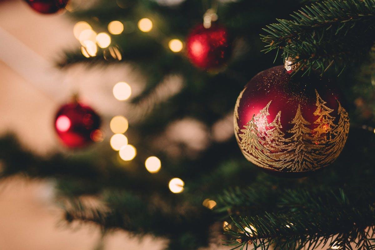 christmas tree representative of holidays